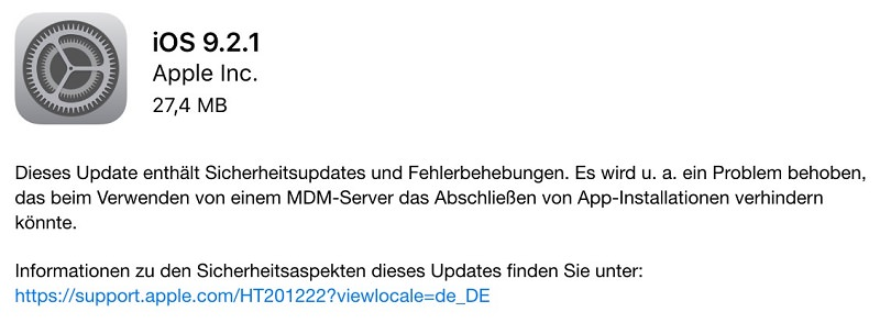 apple-ios-921-update-sicherheit-fehlerbehebung-mdm-server