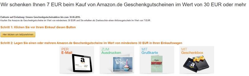 amazon 30 euro gutschein