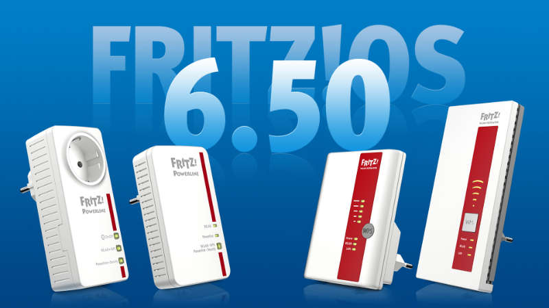 FRITZ!OS 6.50 Powerline Repeater und FRITZ!WLAN Repeater