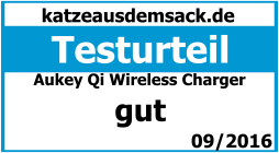 Test kabellose Ladestation Qi Charger