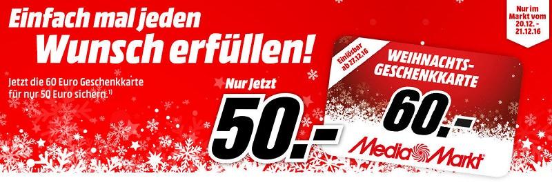 Media Markt 60 Euro Gutschein