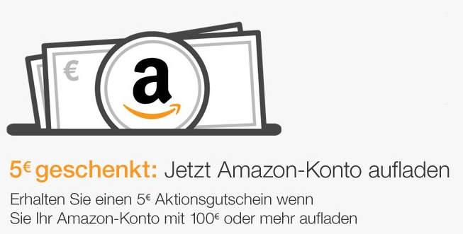 Amazon Gutschein Juni 2017 - 5 € bei Aufladung