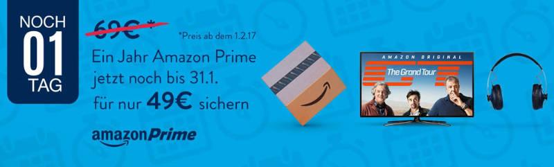 Amazon Prime für 49 Euro letztmalig