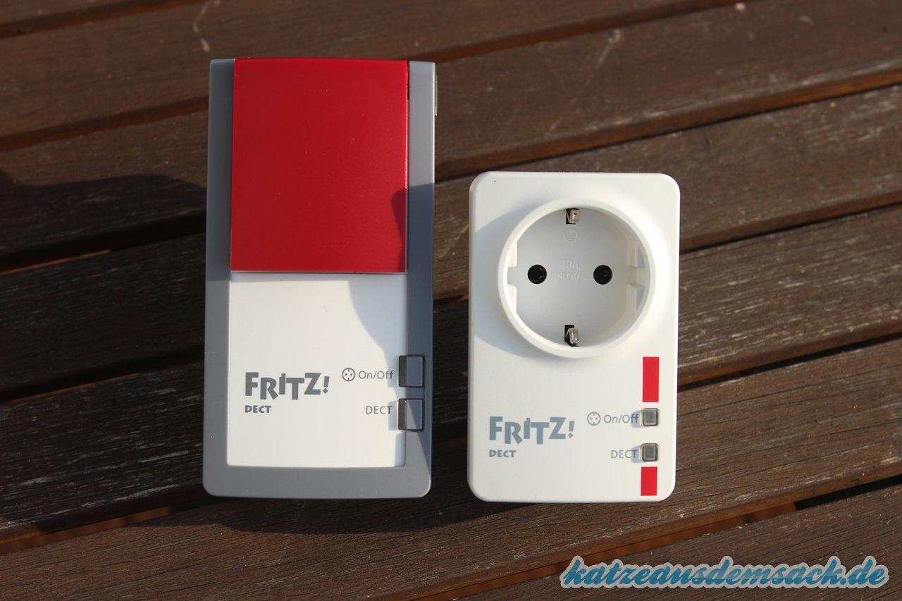 Vergleich FRITZ!DECT 210 (links) und FRITZ!DECT 200 (rechts)