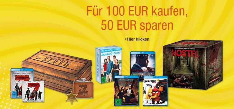 50 Euro Rabatt Amazon - beim Kauf ausgewählter Serien und Filme ab 100 Euro