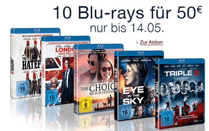 10 Blurays für 50 Euro aktion