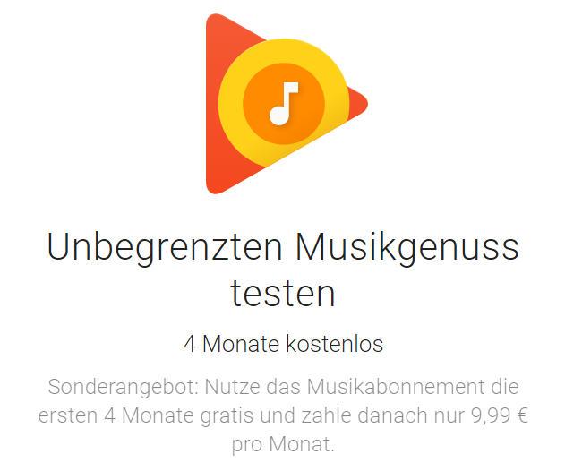 Musik kostenlos für bis zu 4 Monate - Streaming - Google Play Music