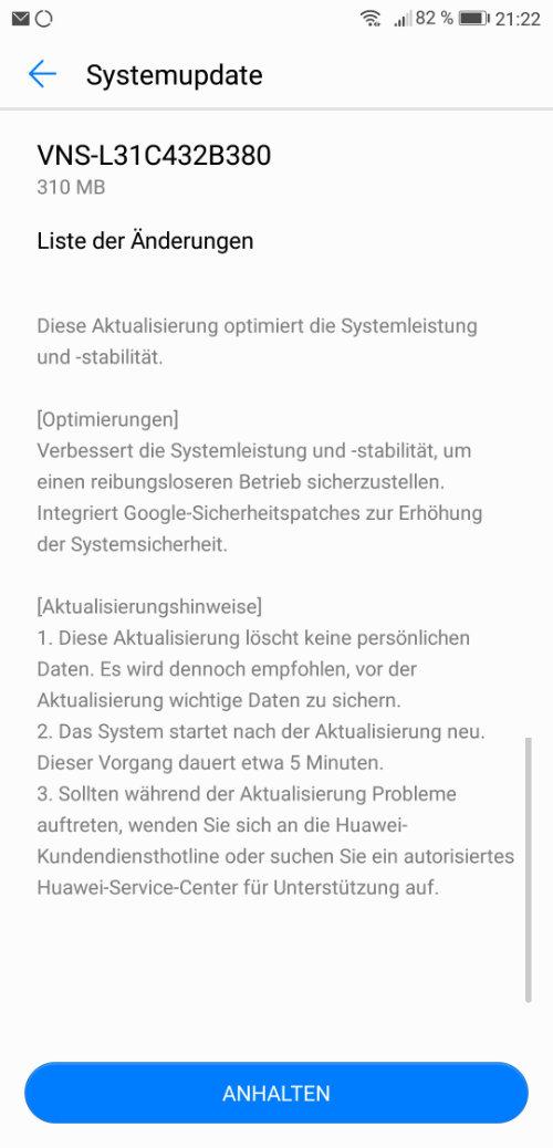 Huawei Update VNS-L31C432B380 VNS-L21C432B380