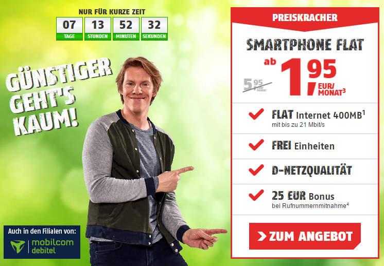 Günstige Handy- bzw. Smartphone-Tarife unter 5 Euro im Monat