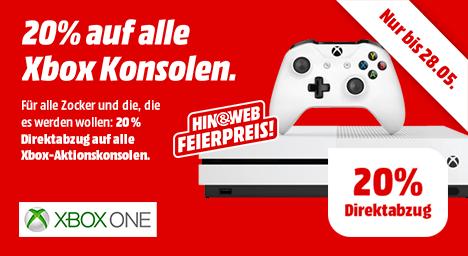 20% Rabatt auf alle Xbox One Aktionskonsolen bei MediaMarkt