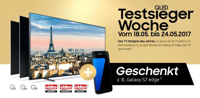 Samsung QLED TVs Q9F. Q7F, Q8C, Q7C - Testberichte und Cachback