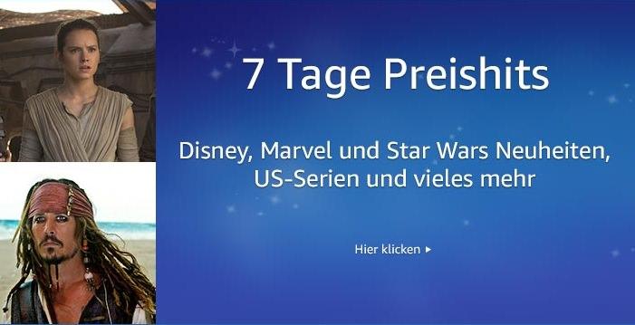 7 Tage Preishits - Disney, Marvel, Star Wars, US Serien