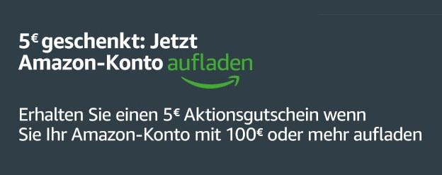 Amazon Gutschein Juli 2017 - 5 € bei Aufladung