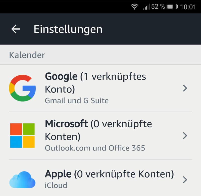 Amazon Echo mit Apple iCloud Kalender verbinden