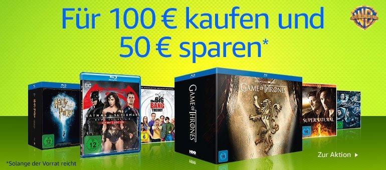 Serien und Filme für 100 Euro kaufen - 50 Euro Rabatt