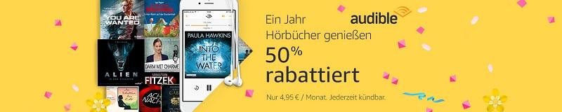 Audible - 1 Jahr zum halben Preis oder 3 Monate kostenlos testen