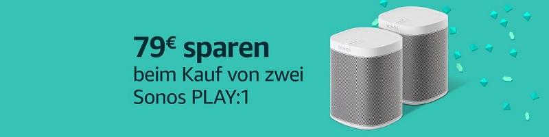 Sonos Play:1 im Doppelpack mit 79 € Rabatt