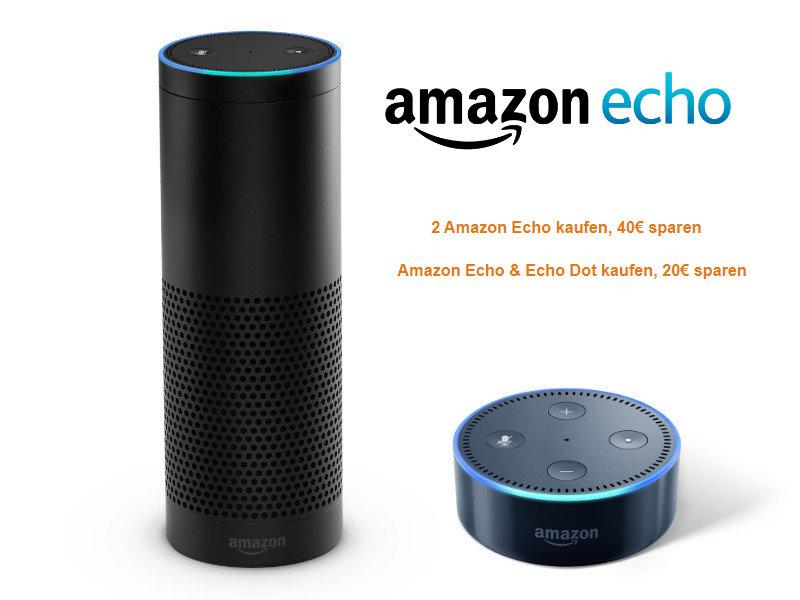 Amazon Echo im Doppelpack günstiger durch Gutschein