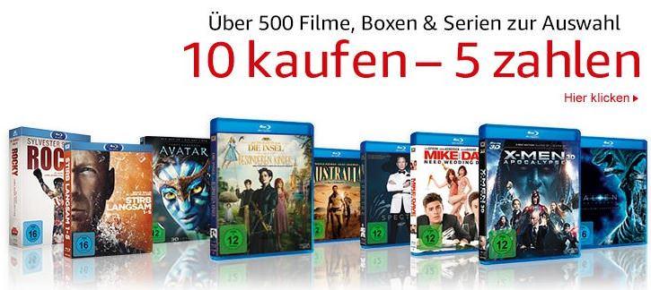 10 Filme, Serien oder Boxsets kaufen - nur 5 bezahlen