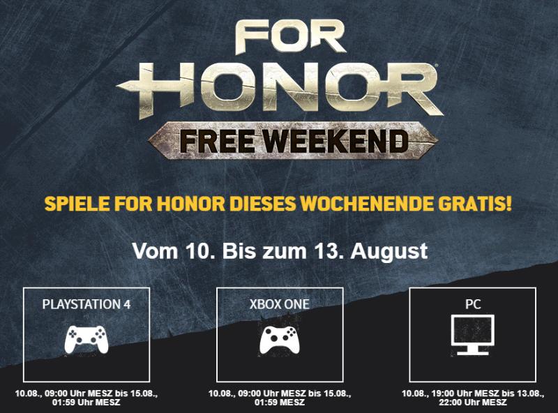 For Honor kostenlos spielen - Am Wochenende