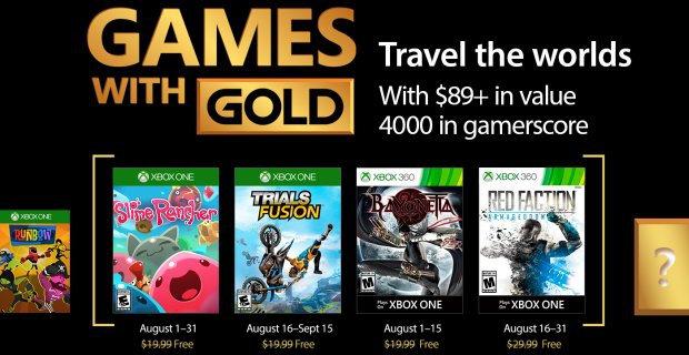 Kostenlose Spiele mit Xbox Live - Games with Gold 2017