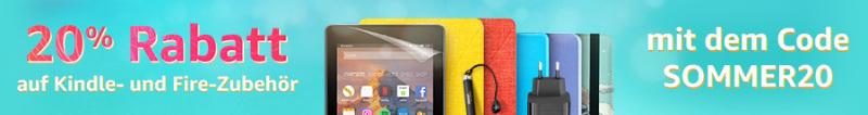 Amazon 20% Rabatt auf Zubehör für Kindle eReader, Fire Tablets, Fire TVs und Echo Dot
