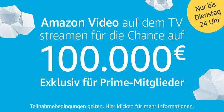 Amazon Gewinnspiel - 100.000 €