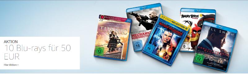 10 Blu-rays für 50 Euro - September 2017 - über 1000 Titel
