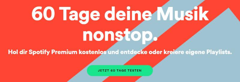 Spotify Premium 60 Tage kostenlos testen