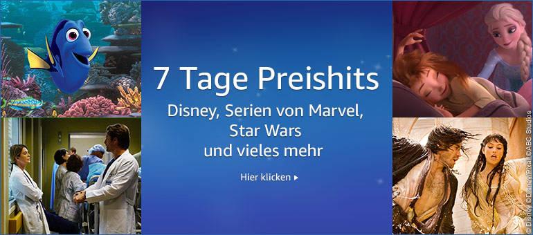 7 Tage Preishits - Reduzierte Filme und Serien - Disney, Star Wars, Marvel