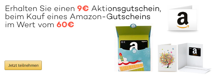 Amazon - 9 Euro Aktionsgutschein im September 2017
