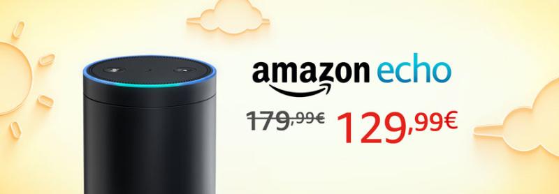 Amazon Echo für 130 Euro - 50 Euro Rabatt auch ohne Prime - Echo Dot unter 50 Euro