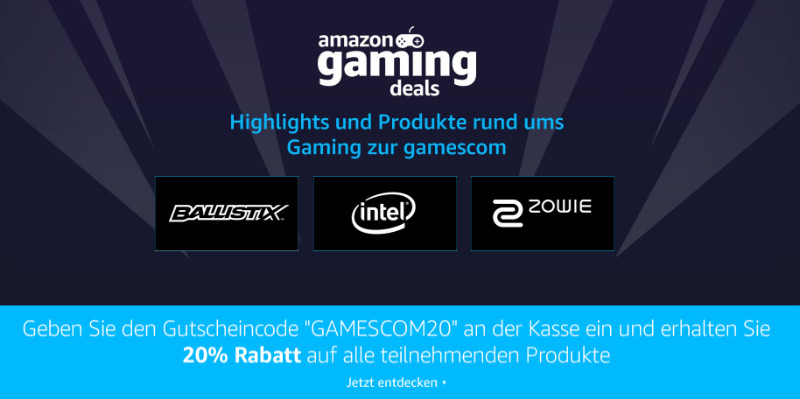 Amazon Gaming Deals - gamescom 2017