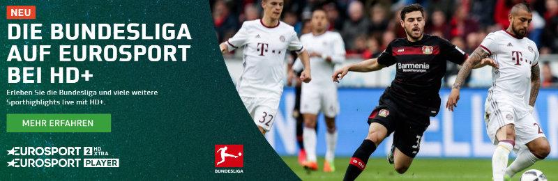 Bundesliga bei Eurosport HD+ - Eurosport 2 HD XTRA