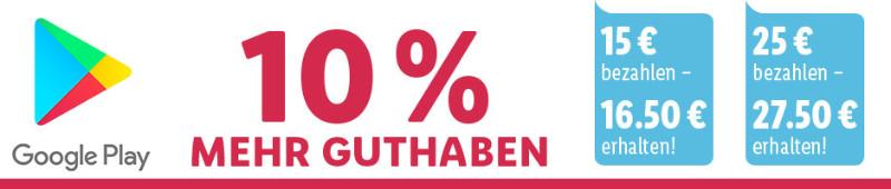 Google Play Guthaben günstiger - 10 % mehr oder 27,50 € für 25 €
