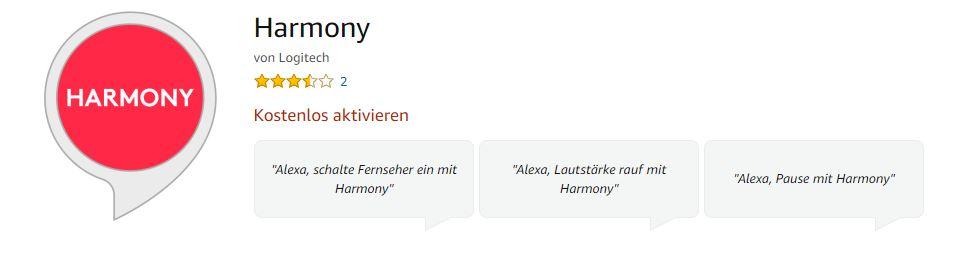 Logitech Harmony Hub mit Amazon Echo nutzen