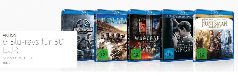 6 Blu-rays für 30 Euro - Neue Aktion bei Amazon
