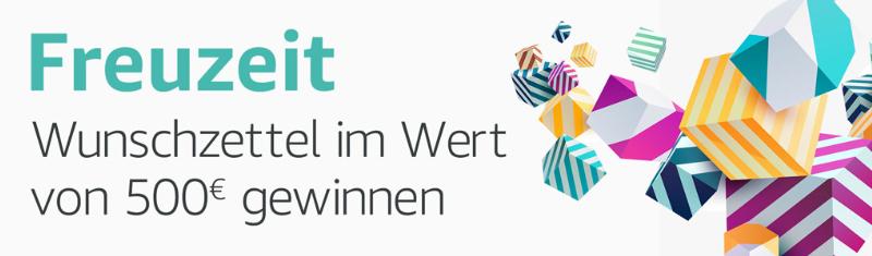 Gewinnspiel - Amazon 10 x 500 € als Gutschein Gewinnen - Wunschzettel erstellen