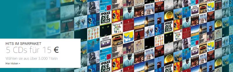 Musik-CDs mit AutoRip für 3 Euro im 5er-Pack