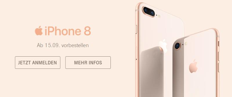 iPhone 8 oder iPhone 8S kann ab dem 15.09. vorbestellt werden