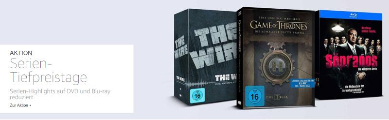 Reduzierte Serien - DVD und Bluray - 5 für 4 oder zwei Serien für 20 Euro