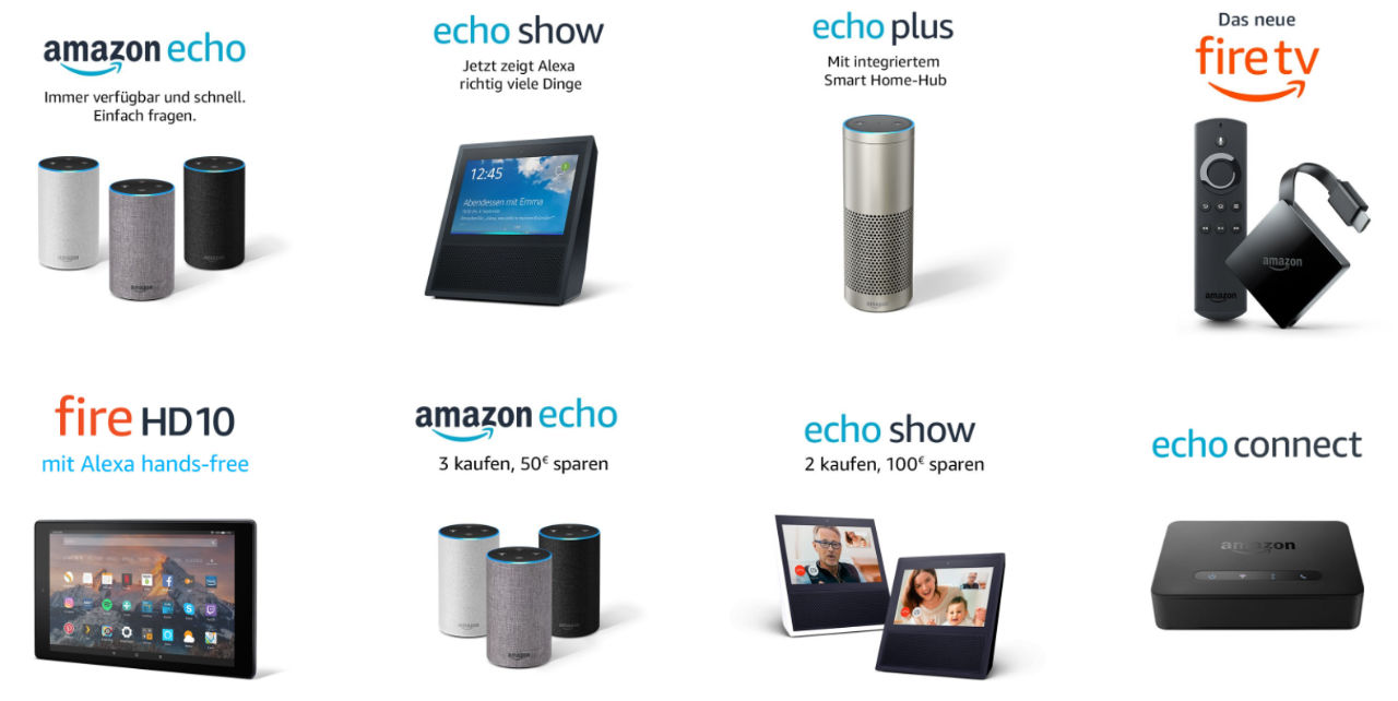Amazon Geräte - Echo / Fire TV / Fire Tablet