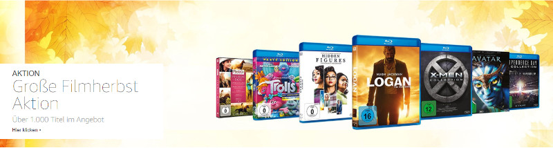 Reduzierte Filme und Serien auf Bluray und DVD - Sofortrabatt