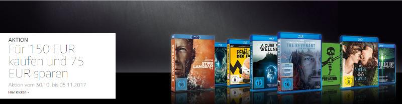 Bis zu 50% Rabatt - Für 150 Euro Filme kaufen, 75 Euro zahlen
