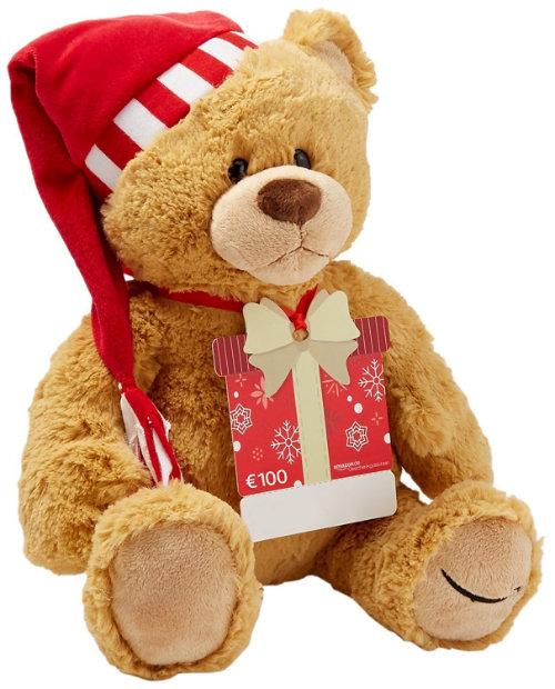 100 Euro Amazon Gutschein mit Prime kaufen - Teddybär Weihnachten geschenkt