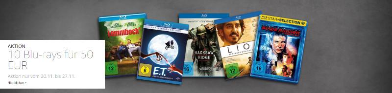 10 für 50 Euro - Blu-rays - riesige Auswahl
