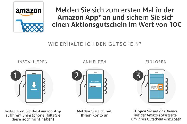 Amazon 10 Euro Gutschein Für Erstmalige Nutzung Der Amazon App