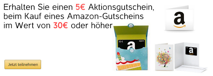 5 Euro Amazon Gutschein - November 2017