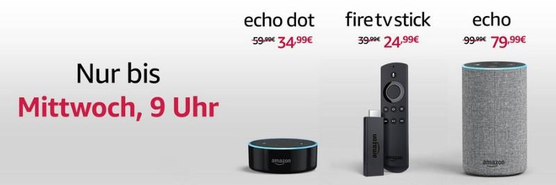 Amazon Echo, Echo Dot, Echo Plus und Fire TV Stick letztmalig reduziert