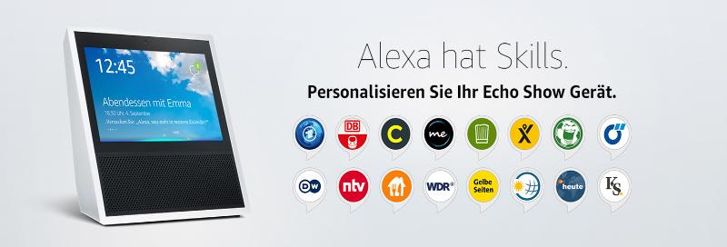 Echo Show - Alexa Skills die Bildschirm nutzen